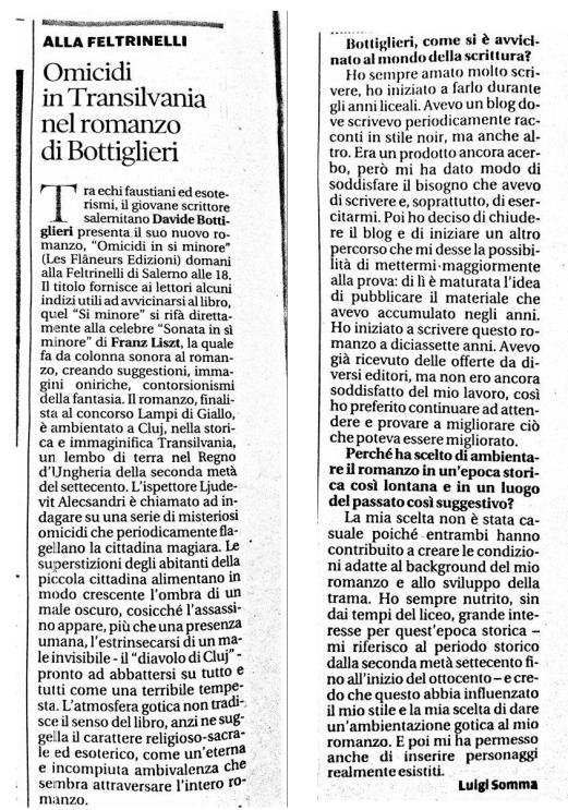 Intervista La Città - Luigi Somma